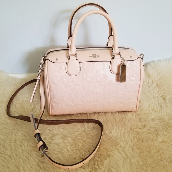 d2aba7ad5c95 Coach Mini Bennett Satchel Handbag Light Pink